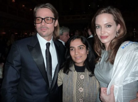 Malalai Joya with Angelina Jolie and Brad Pitt