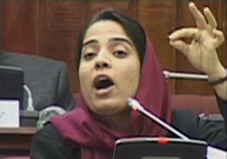 Malalai Joya in Parliament