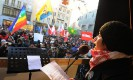 Malalai Joya in anti-war demo in Munich