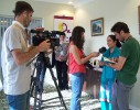 Joya giving an interview to the JINHA Turkish TV
