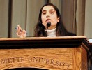 Malalai Joya delivering a lecture in Willamette University