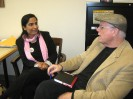 Malalai Joya meeting with Robert Dreyfuss
