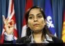 Malalai Joya in the Parliament Hill in Ottawa