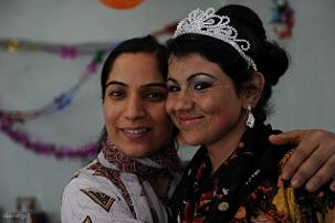 Malalai Joya with Saima, the bride (Photo by David Gill)