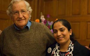 Malalai Joya with chomsky