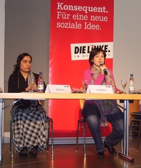 Heike Hänsel and Malalai Joya at berlin