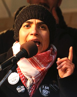 Joya speaking in anti-war rally in Germany
