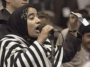 Malalai Joya in Loya Jirga in 2003