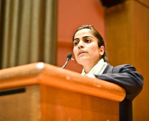 Malalai Joya at Brown University, Oct. 25