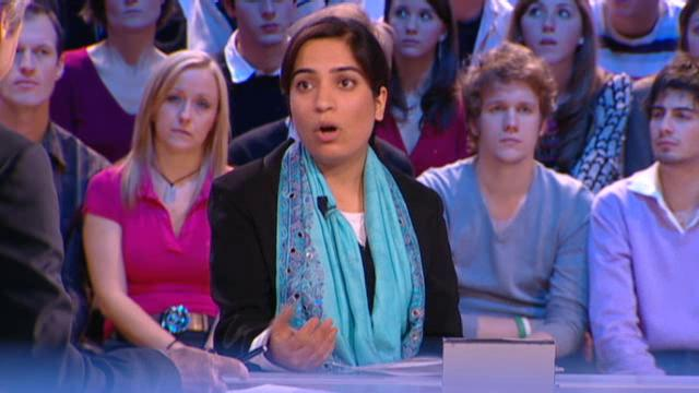 Malalai Joya on a France TV show