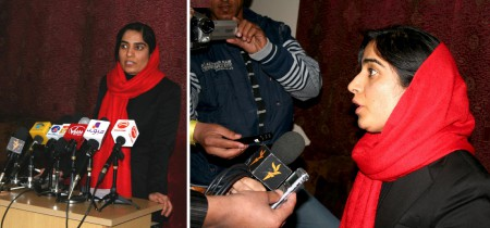 Press Conference of Malalai Joya in Kabul