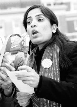 Malalai Joya speaks at protest in Halifax - Canada