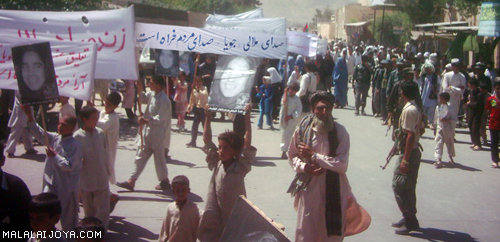 Protest in Farah