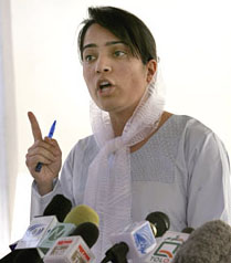 Malalai Joya in a Press Conference in Kabul on May 21