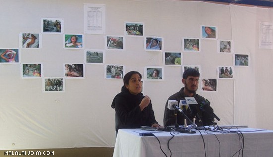 Malalai Joya and Humayun, who lost many family members
