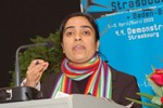 Malalai Joya in Strasbourg - April 5, 2009